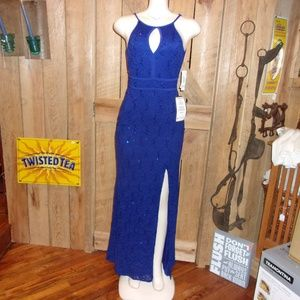 NWT New Morgan & Co Blue Evening Gown Juniors 1